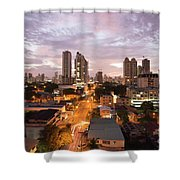 Panama City At Night Shower Curtain