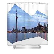 Panorama Of The City Of Toronto Shower Curtain