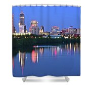 Panoramic Indianapolis Shower Curtain