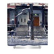 Panoramic View Of Historic Homes Shower Curtain