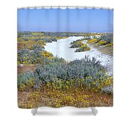Panoramic View Of White Salt And Desert Shower Curtain