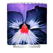 Pansy Power 76 Shower Curtain