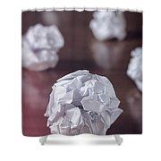 Paper Balls Shower Curtain