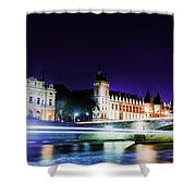 Paris At Night 15 Art  Shower Curtain