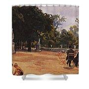 Paris The Luxembourg Park Zinaida Serebryakova Shower Curtain