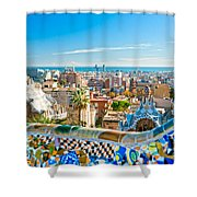Park Guell Barcelona Shower Curtain
