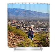 Path Around A Mountain Shower Curtain