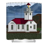 Patos Island Lighthouse Shower Curtain