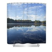 Pauper Lake Reflections Shower Curtain