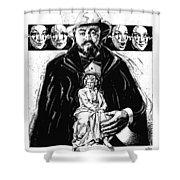 Pavarotti, Fidelio, Inking Shower Curtain