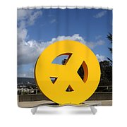 Peace From The Oakland Museum . Oakland California . 7d13411 Shower Curtain