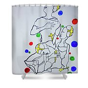 Peace The Inner Message Poster South Sudan Shower Curtain