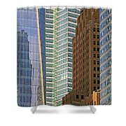 Peace Tower Abstract Shower Curtain