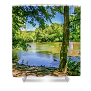 Peaceful On The River Shower Curtain