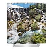 Pearl Shoal Waterfall Shower Curtain