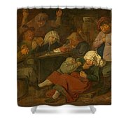 Peasant Party Drink Shower Curtain