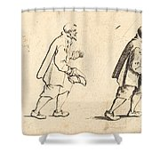 Peasant With Hat In Hand Shower Curtain