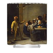 Peasants Celebrating Twelfth Night Shower Curtain