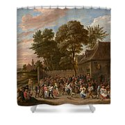 Peasants Dancing And Feasting Shower Curtain