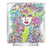 Peko - Keeper Of Flora Shower Curtain