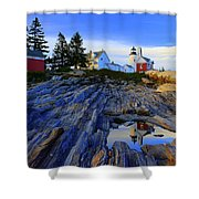 Pemaquid Point Light Reflections Shower Curtain