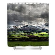 Pen Y Fan And Brecon Beacons Panorama Shower Curtain