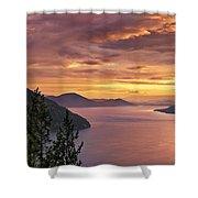 Pend Oreille Sunrise Shower Curtain