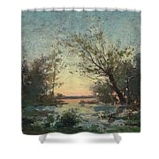 Per Ekstrom, French Landscape In Sunset. Shower Curtain