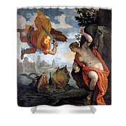 Perseus Rescuing Andromeda Shower Curtain