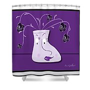 Personality Vase Shower Curtain