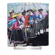 Peruvian Ladies Shower Curtain