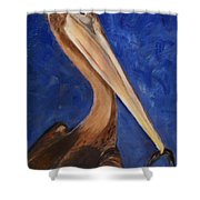 Pete Pelican Shower Curtain