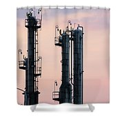 Petrochemical Plant Industry Zone Twilight Shower Curtain