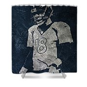 Peyton Manning Broncos Shower Curtain