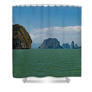 Phang Nga Province Of Phuket Thailand Shower Curtain