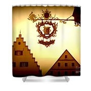 Pharmacy Sign In Rothenburg Shower Curtain
