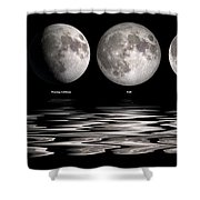 Phases Of The Moon Shower Curtain