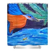 Philippine Kingfisher Painting Contest 1 Shower Curtain