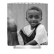 Philly Fountain Kid Shower Curtain