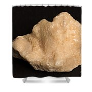 Phosphorescent Calcite On Fossilized Shower Curtain