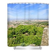 Photographer At Moorish Fortress Shower Curtain