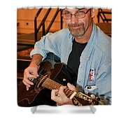 Picking Guitar Shower Curtain