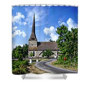 Picturesque Rural Church Shower Curtain