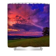 Picturesque Rural Sunset Shower Curtain