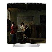 Pieter De Hooch Shower Curtain