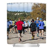 Pikes Peak Road Runners Fall Series IIi Race Shower Curtain