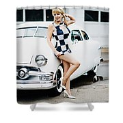 Pin Up #22 Shower Curtain