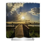 Pine Glades Sunset Shower Curtain