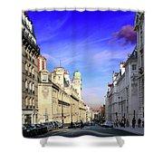Pink Cloud In Paris Shower Curtain