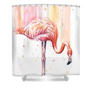 Pink Flamingo - Facing Right Shower Curtain